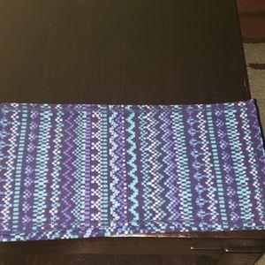 Columbia Micro Fleece Scarf in Purple/Teal Design